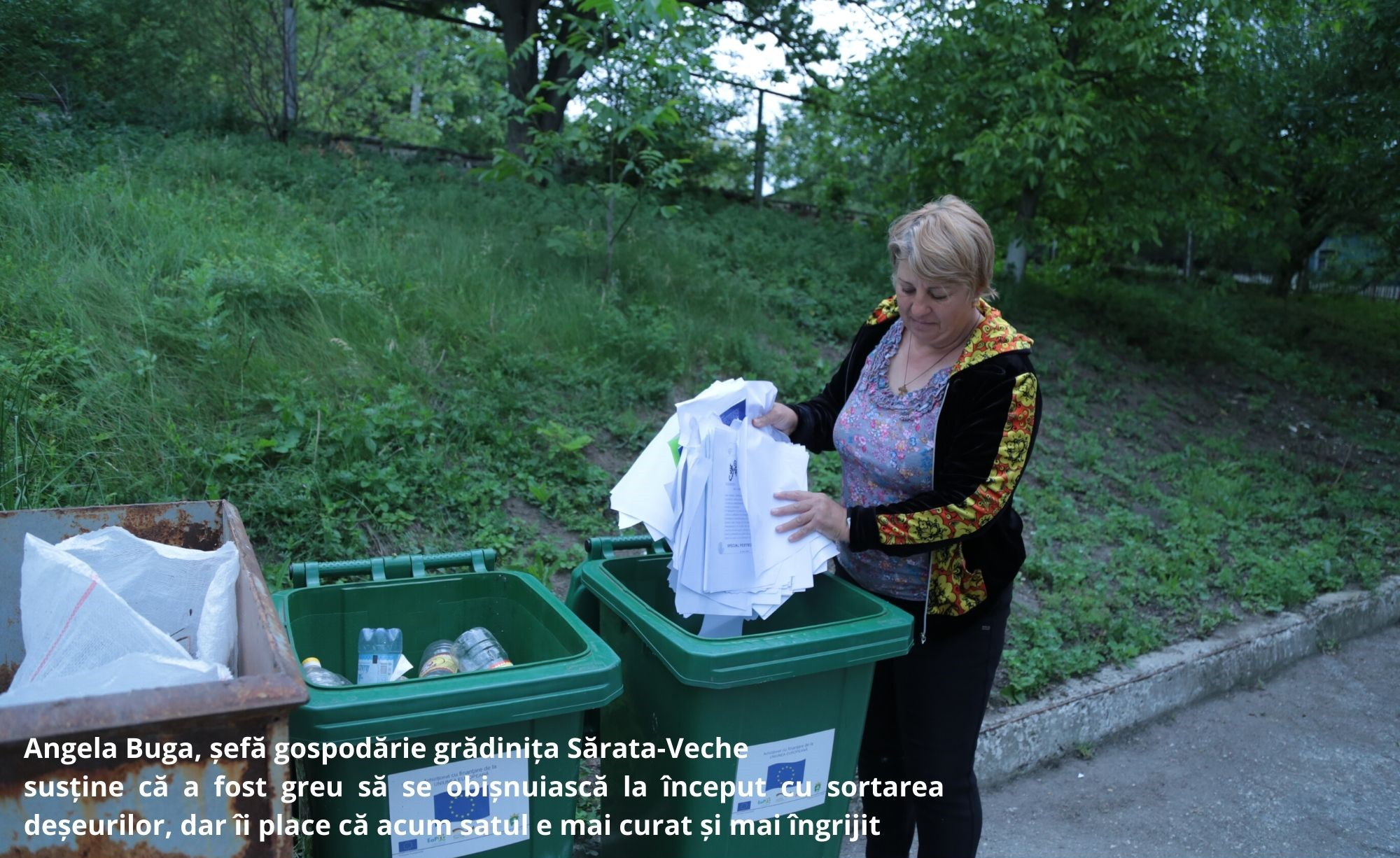 Locuitorii din Sărata-Veche sunt în pas cu normele europene la colectarea separată a deșeurilor