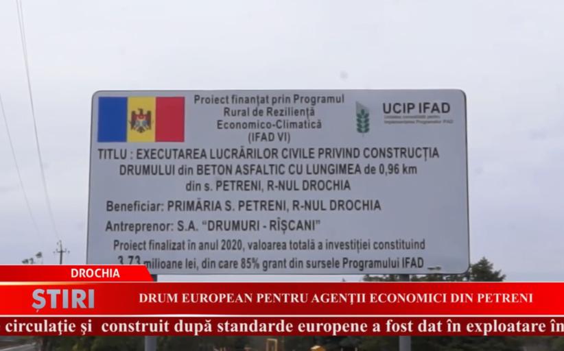 Drum european pentru agenții economici din Petreni