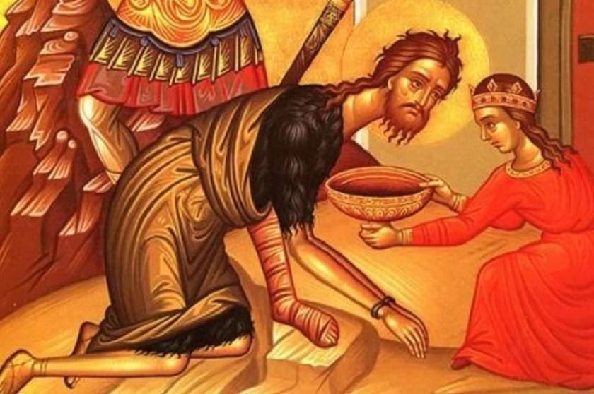 Creştinii prăznuiesc Tăierea Capului Sfântului Proroc Ioan Botezătorul