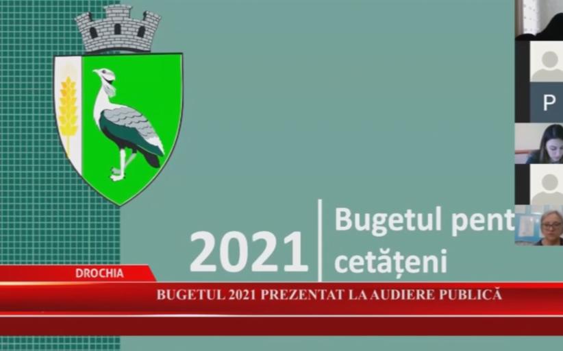 Bugetul 2021 prezentat la audiere publică